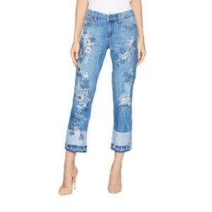 LVPL by Liverpool Embroidered Casey Crop Jeans 2